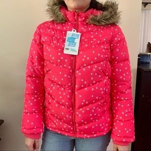 NWT star puffer jacket
